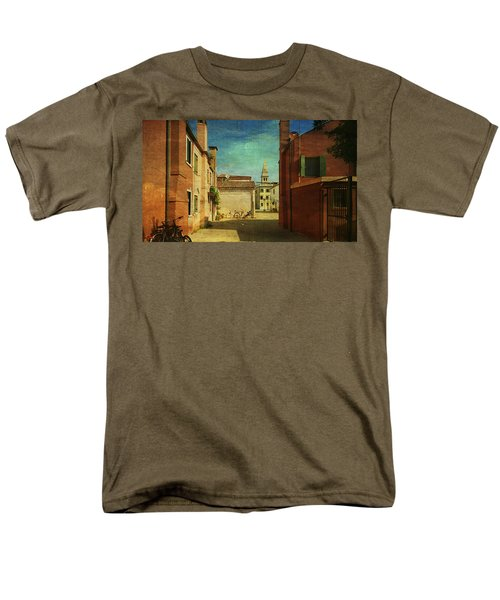 Men's T-Shirt  (Regular Fit) featuring the photograph Malamocco Perspective No3 by Anne Kotan