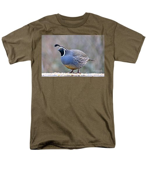 Men's T-Shirt  (Regular Fit) featuring the photograph Male California Quail by Sean Griffin