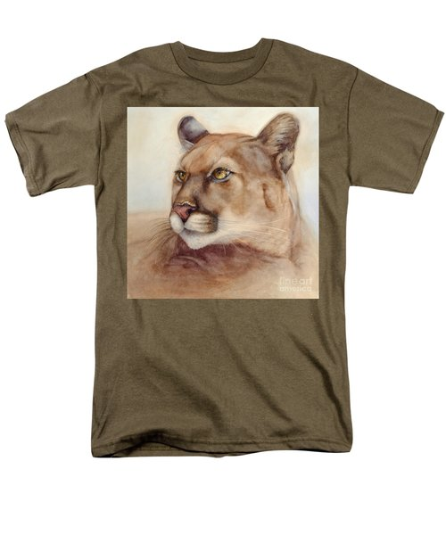 Male Cougar Men's T-Shirt  (Regular Fit) by Bonnie Rinier