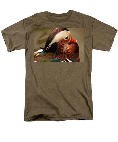 Male Mandarin Duck China Men's T-Shirt  (Regular Fit) by Ralph A  Ledergerber-Photography