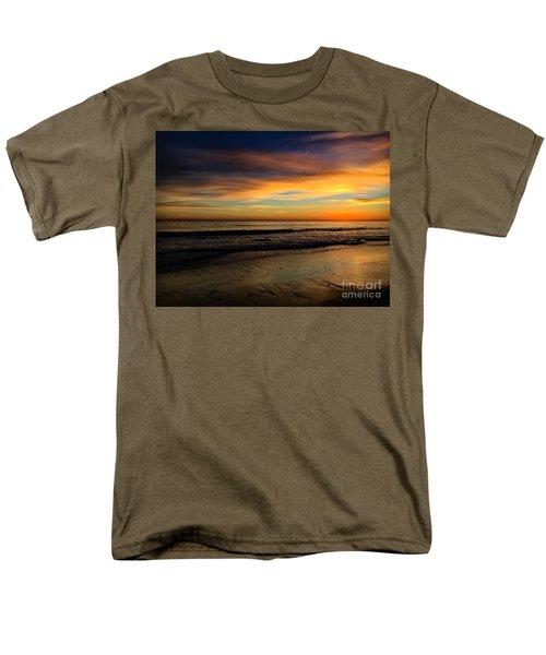 Malibu Beach Sunset Men's T-Shirt  (Regular Fit) by Chris Tarpening