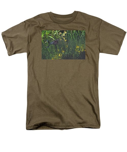 Men's T-Shirt  (Regular Fit) featuring the photograph Mallard In The Marsh by Suzy Piatt