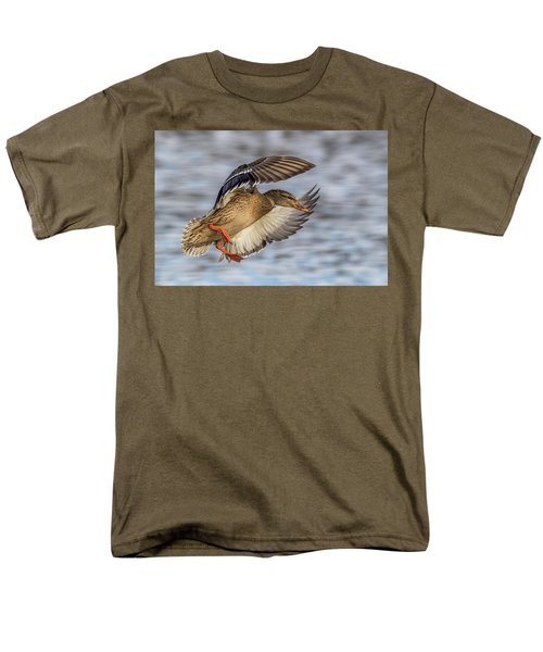 Mallard With Cupped Wings Men's T-Shirt  (Regular Fit) by Paul Freidlund