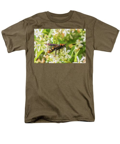 Men's T-Shirt  (Regular Fit) featuring the photograph Mammoth Wasp Megascolia Maculata Maculata by Jivko Nakev