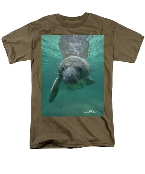 Manatee Men's T-Shirt  (Regular Fit) by Tim Fitzharris
