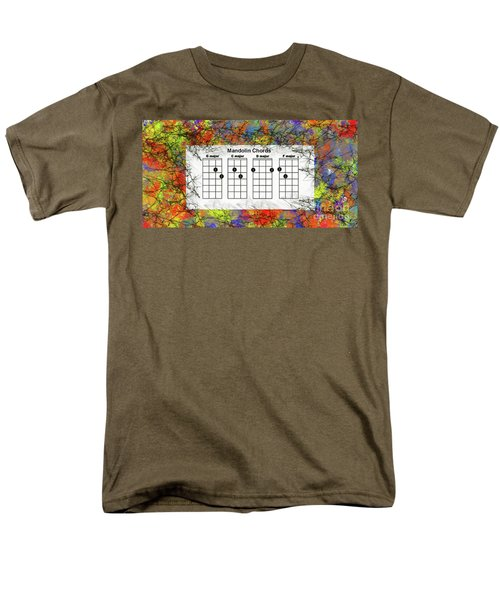 Mandolin- The Basic Chords Men's T-Shirt  (Regular Fit) by Trilby Cole