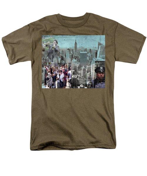 Manhattan Men's T-Shirt  (Regular Fit) by Judi Saunders