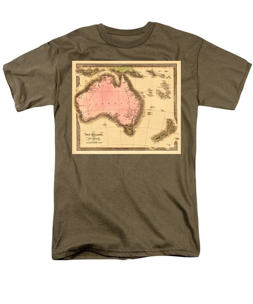 Map Of Australia 1840 Men's T-Shirt  (Regular Fit) by Andrew Fare