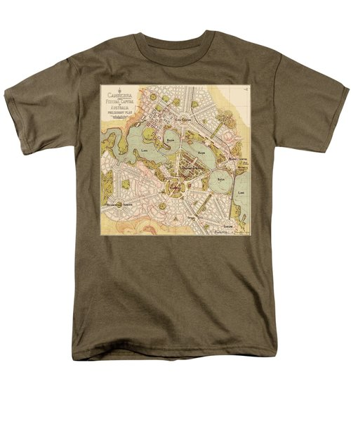 Map Of Canberra 1913 Men's T-Shirt  (Regular Fit) by Andrew Fare