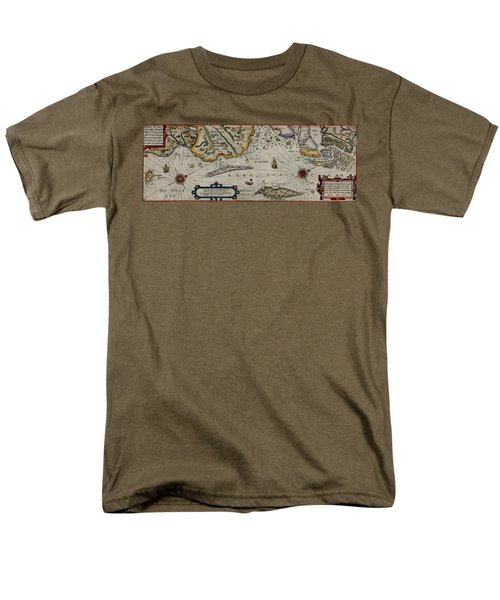 Map Of Sweden 1606 Men's T-Shirt  (Regular Fit) by Andrew Fare
