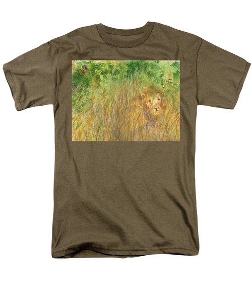 Men's T-Shirt  (Regular Fit) featuring the painting Mara The Lioness by Vicki  Housel
