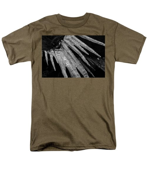 Men's T-Shirt  (Regular Fit) featuring the photograph March Icicles 3 by Mike Eingle