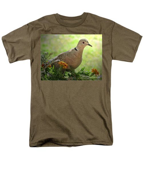 Men's T-Shirt  (Regular Fit) featuring the photograph Marigold Dove by Debbie Portwood