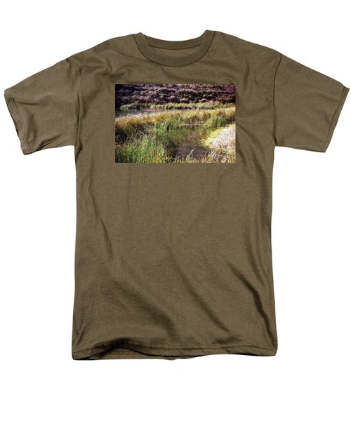 Marine Headlands Pond And Flowers Men's T-Shirt  (Regular Fit) by Ted Pollard