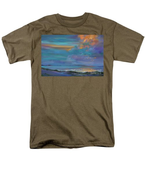 Men's T-Shirt  (Regular Fit) featuring the painting Mariners Beacon by AnnaJo Vahle