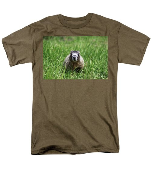Men's T-Shirt  (Regular Fit) featuring the photograph Marmot Pup by Alyce Taylor