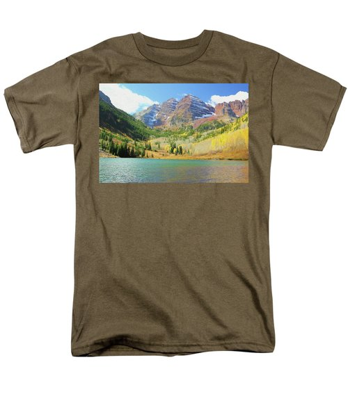 Men's T-Shirt  (Regular Fit) featuring the photograph The Maroon Bells Reimagined 2 by Eric Glaser