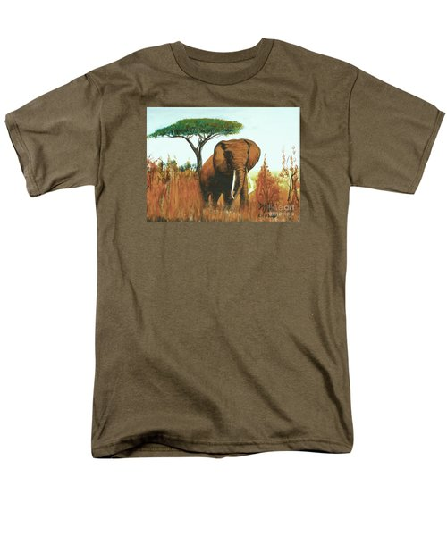 Men's T-Shirt  (Regular Fit) featuring the painting Marsha's Elephant by Donna Dixon
