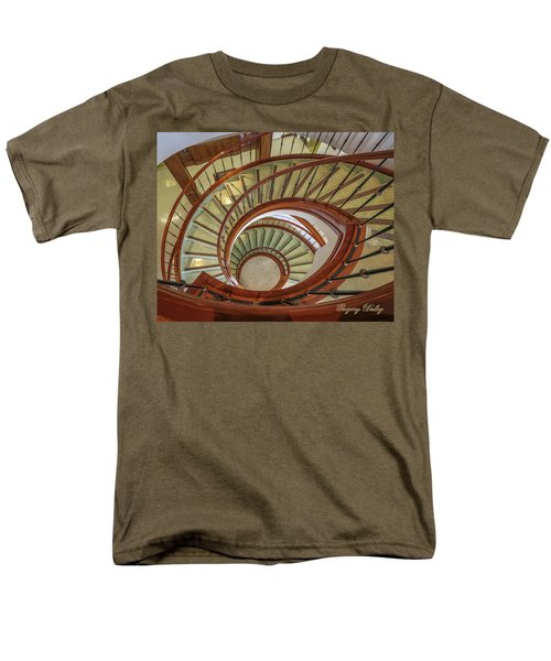 Men's T-Shirt  (Regular Fit) featuring the photograph Marttin Hall Spiral Stairway by Gregory Daley  PPSA