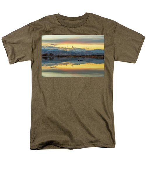 Men's T-Shirt  (Regular Fit) featuring the photograph Marvelous Mccall Lake Reflections by James BO Insogna