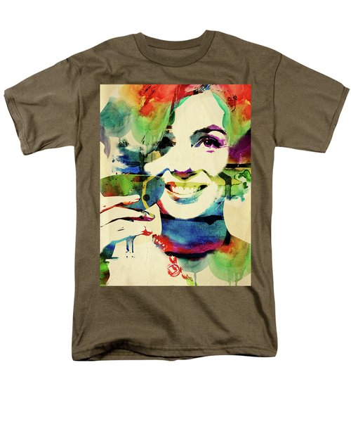 Marilyn And Her Drink Men's T-Shirt  (Regular Fit) by Mihaela Pater