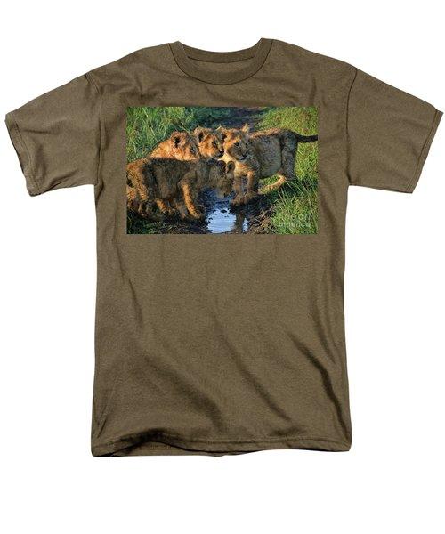 Men's T-Shirt  (Regular Fit) featuring the photograph Masai Mara Lion Cubs by Karen Lewis