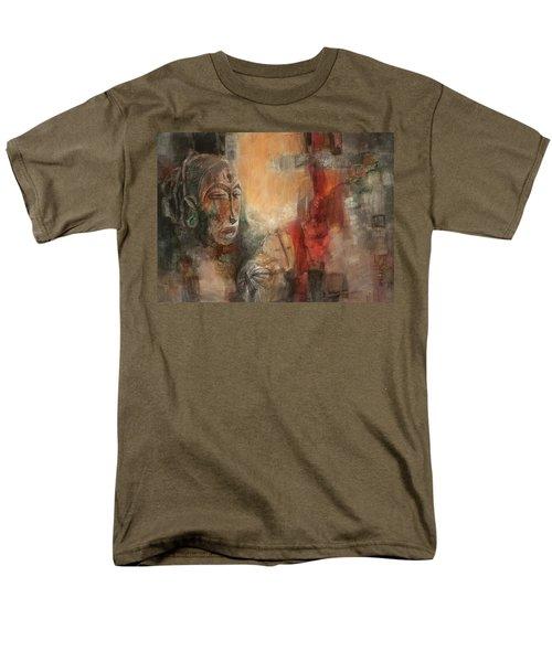 Symbol Mask Painting - 08 Men's T-Shirt  (Regular Fit) by Behzad Sohrabi