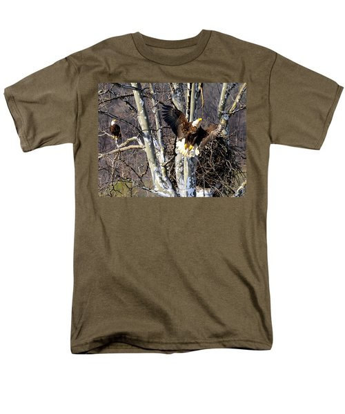 Mating Pair At Nest Men's T-Shirt  (Regular Fit) by Randall Branham