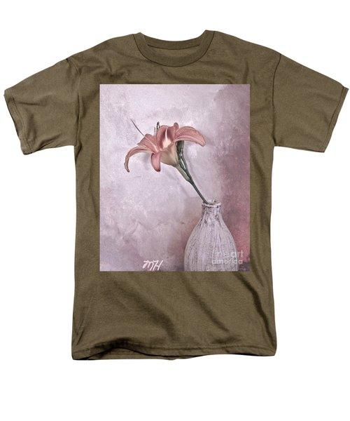 Mauve Lily Men's T-Shirt  (Regular Fit) by Marsha Heiken