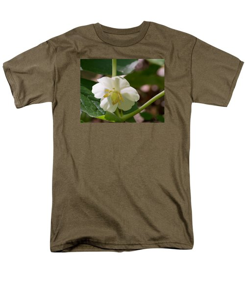 May-apple Blossom Men's T-Shirt  (Regular Fit) by Linda Geiger
