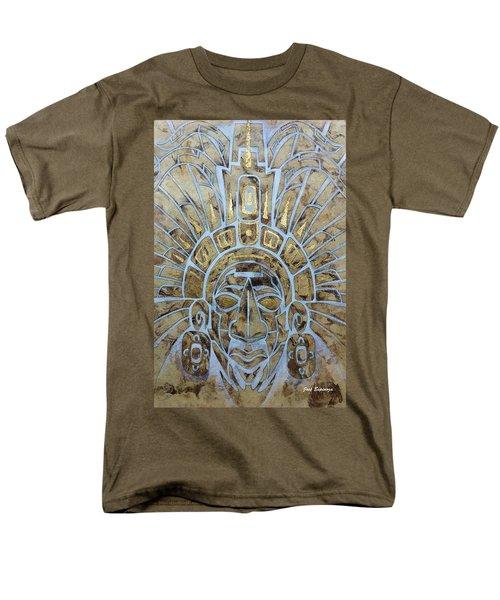 Men's T-Shirt  (Regular Fit) featuring the painting Mayan Warrior by J- J- Espinoza