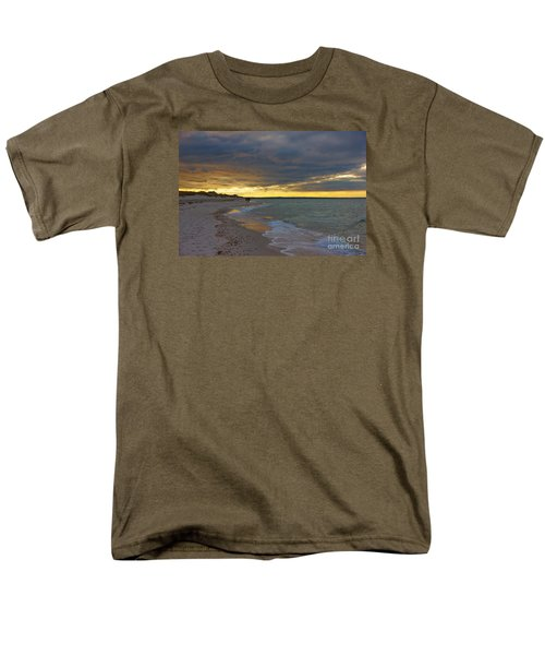 Mayflower Beach Walk Men's T-Shirt  (Regular Fit) by Amazing Jules