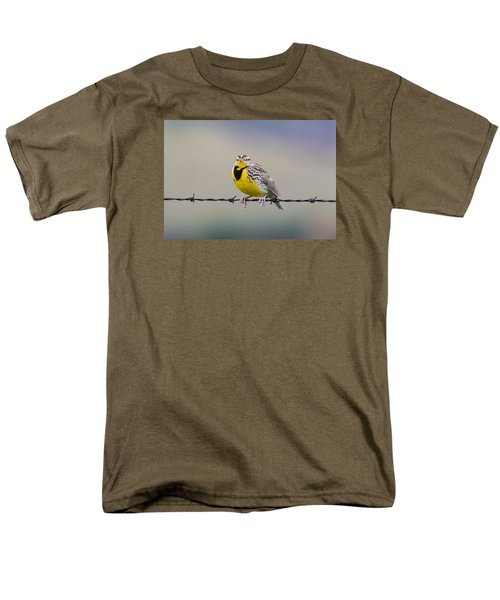 Meadowlark Stare Men's T-Shirt  (Regular Fit) by Marc Crumpler