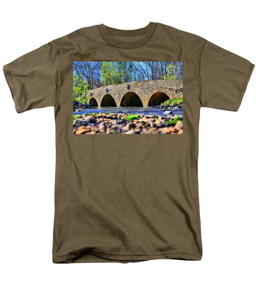 Men's T-Shirt  (Regular Fit) featuring the photograph Meadows Road Bridge by DJ Florek
