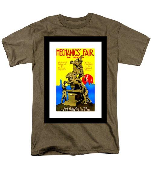 Mechanics Fair San Francisco 1913 II Wesley De Lappe Men's T-Shirt  (Regular Fit) by Peter Gumaer Ogden Collection