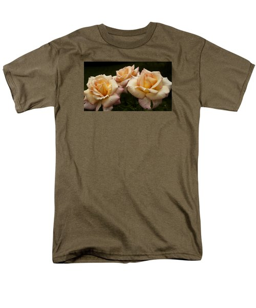 Medley Of Three Yellow Roses Men's T-Shirt  (Regular Fit) by Barbara Middleton