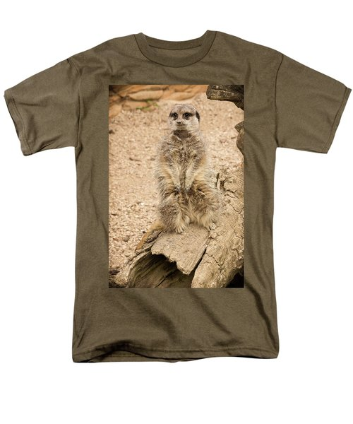 Meerkat Men's T-Shirt  (Regular Fit) by Chris Boulton