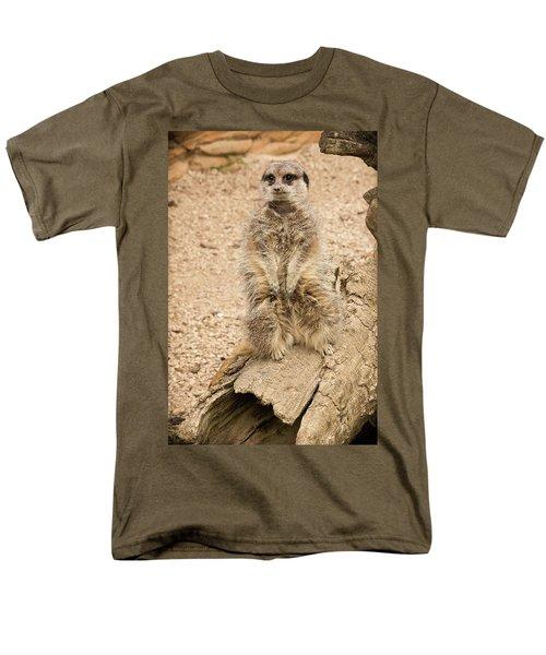 Men's T-Shirt  (Regular Fit) featuring the photograph Meerkat by Chris Boulton