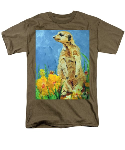 Men's T-Shirt  (Regular Fit) featuring the painting Meerly Curious by Tom Riggs