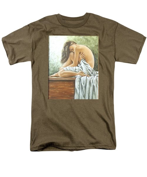 Men's T-Shirt  (Regular Fit) featuring the painting Melancholy by Natalia Tejera