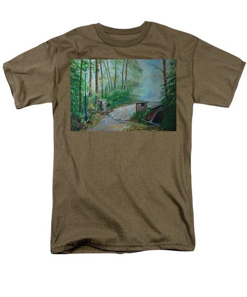 Men's T-Shirt  (Regular Fit) featuring the painting Memory Bridge by Leslie Allen