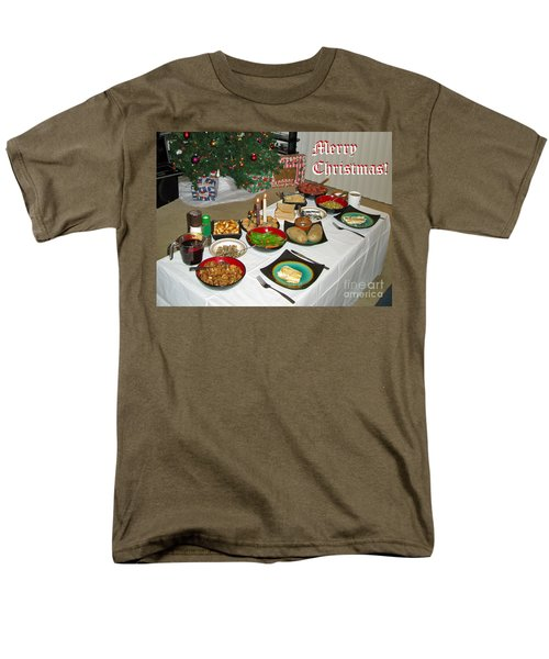 Merry Christmas- Traditional Lithuanian Christmas Eve Dinner Men's T-Shirt  (Regular Fit) by Ausra Huntington nee Paulauskaite