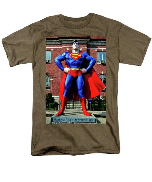 Metropolis - Home Of Superman 001 Men's T-Shirt  (Regular Fit) by George Bostian