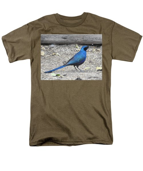Men's T-Shirt  (Regular Fit) featuring the photograph Meve's Starling by Betty-Anne McDonald