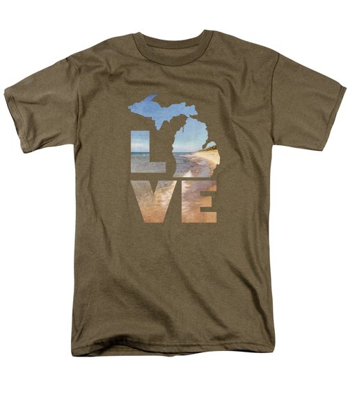 Michigan Love Men's T-Shirt  (Regular Fit) by Emily Kay