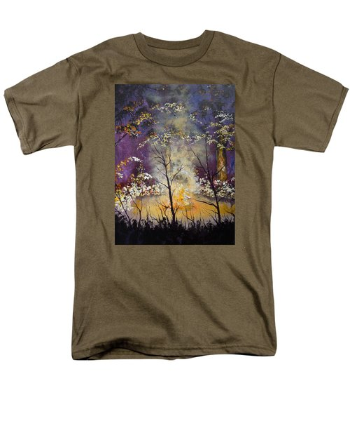 Midnight Campsite Men's T-Shirt  (Regular Fit) by Dan Whittemore