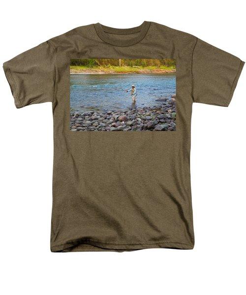 Mike's River-1 Men's T-Shirt  (Regular Fit) by Alex Suescun
