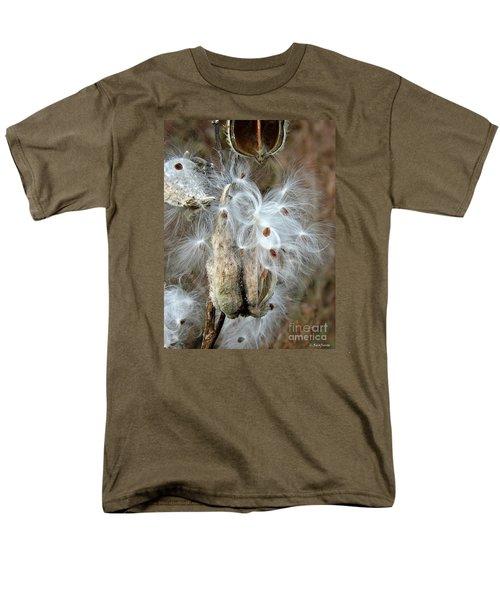 Milkweeds Seeds  Men's T-Shirt  (Regular Fit) by Christy Ricafrente