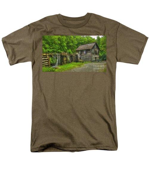 Men's T-Shirt  (Regular Fit) featuring the photograph Mingus Mill 3 Mingus Creek Great Smoky Mountains Art by Reid Callaway