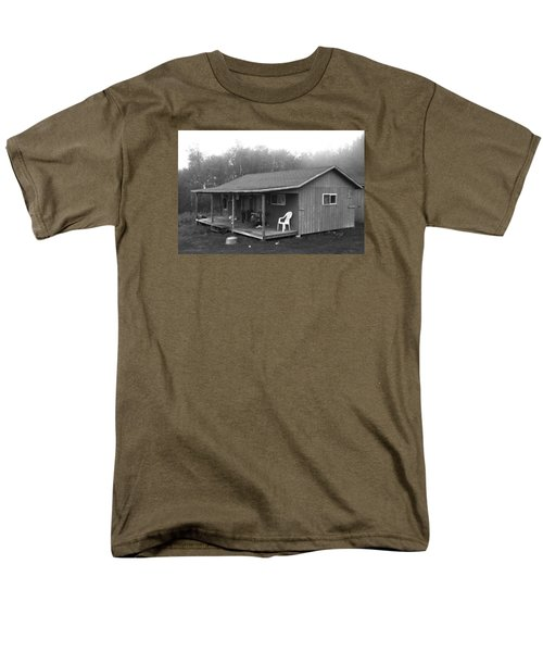 Misty Morning At The Cabin Men's T-Shirt  (Regular Fit) by Jose Rojas